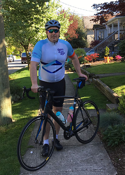 Dan is riding his first Gran Fondo, taking on the Forte 152km