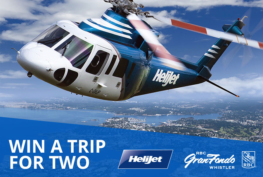 Win return flights and hotel stay courtesy of Helijet and RBC GranFondo Whistler