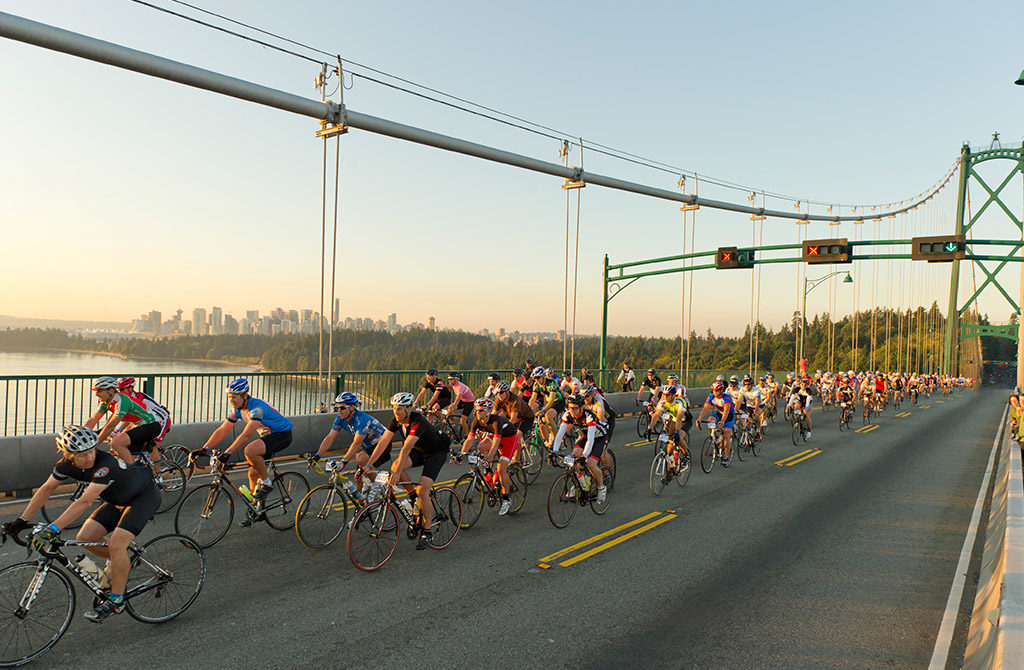 Ride across Lions Gate Bridge
