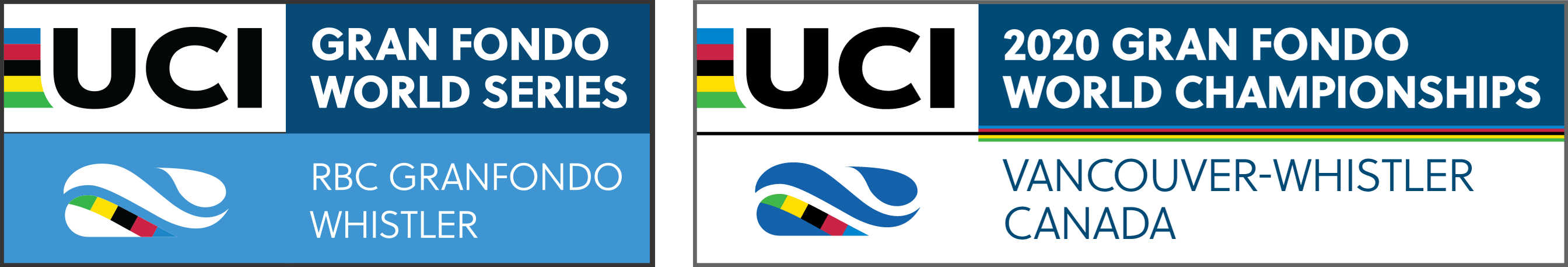 UCI Gran Fondo World Series and UCI Gran Fondo World Championships logos
