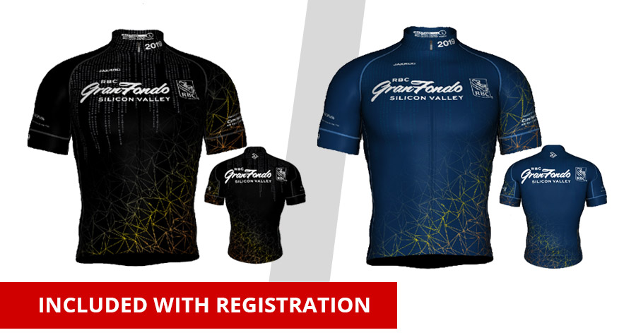 RBC GranFondo Silicon Valley riders get a cycling jersey as part of their registration