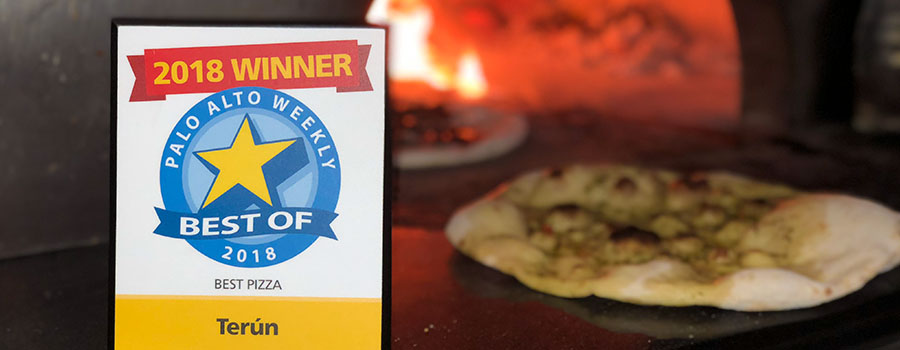Terun restaurant won best pizza 2018 in the Palo Alto Weekly