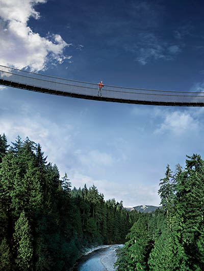 Suspension Bridge over Capilano Canyon