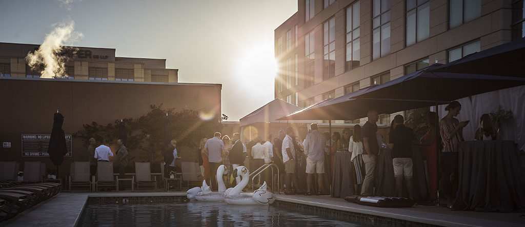 The VIP pool party rounds off the weekend in style