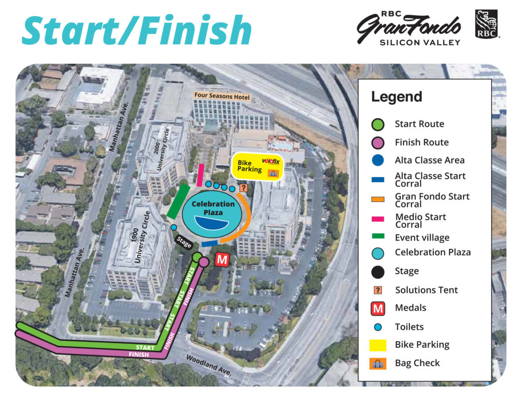 Silicon Valley start / finish map