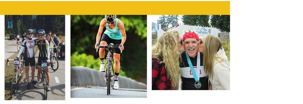 Photos of riders who've ridden every RBC GranFondo Whistler since the beginning in 2010