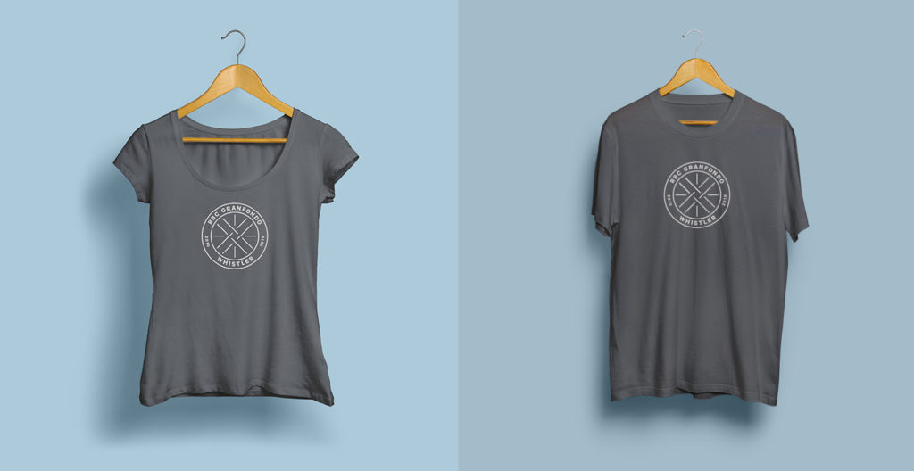Every rider will receive this grey soft-spun tshirt with the 10 year crest on it