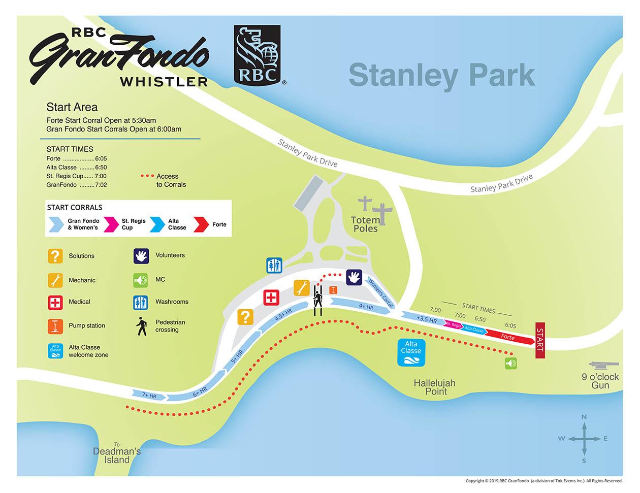 Stanley Park start map