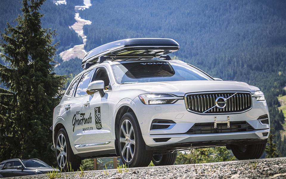 The RBC GranFondo Whistler official Volvo vehicle