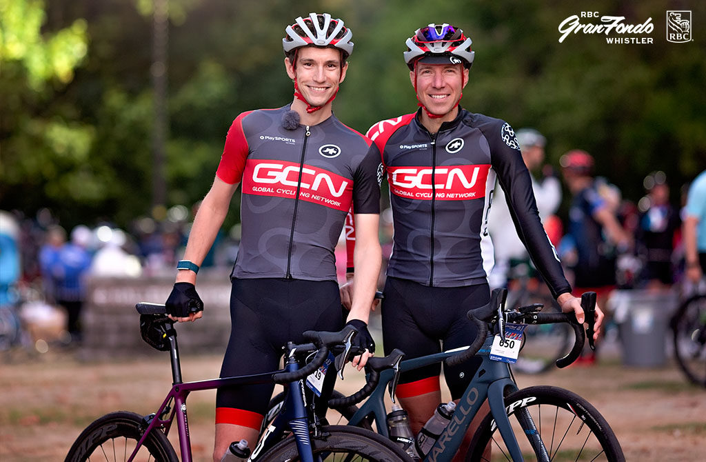 Simon Richardson and Jeremy Powers from GCN at RBC GranFondo Whistler
