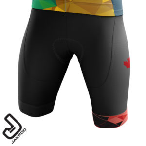 Front View of the 2020 Gran Fondo Whistler Bib Shorts