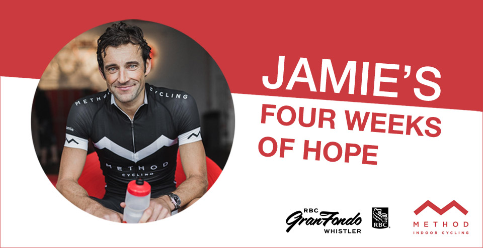 Jamie's four weeks of hope - free online cycling classes with Method and RBC GranFondo Whistler