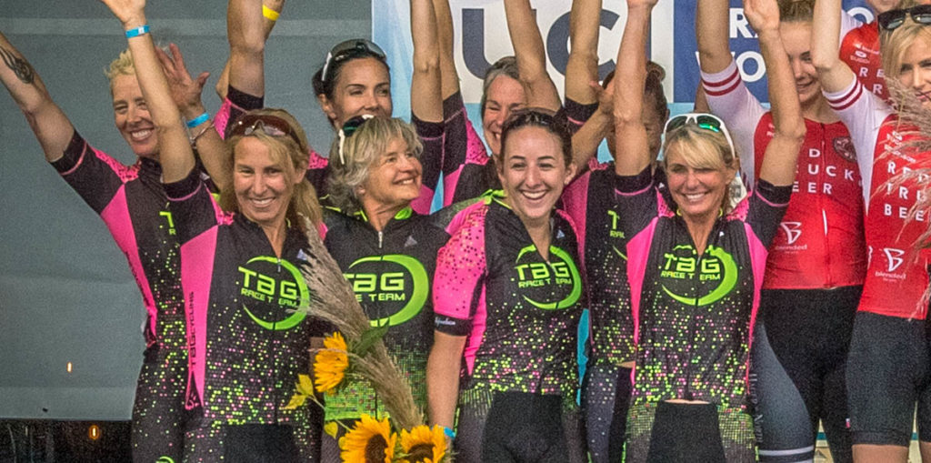 TaG cycling club atop the RBC GranFondo Whistler podium in 2019